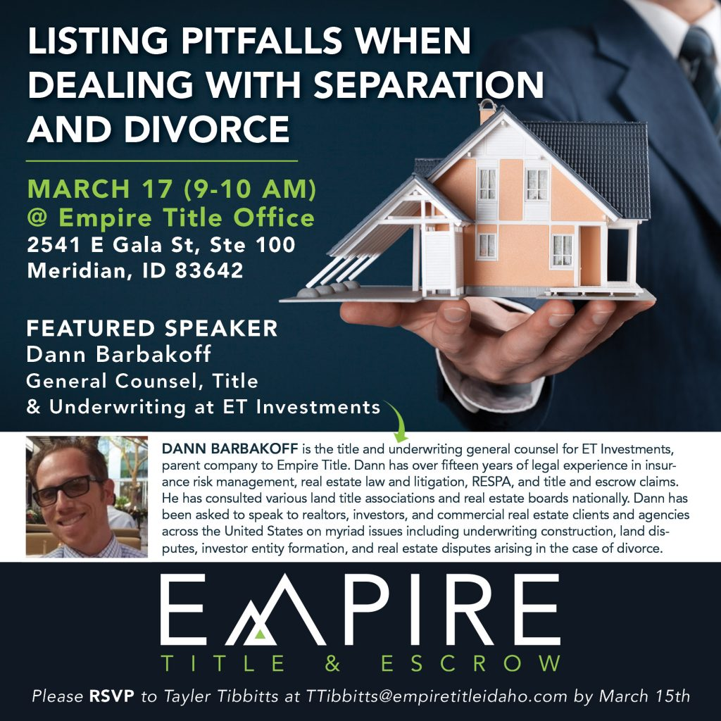 Listing Pitfalls when Dealing with Separation and Divorce