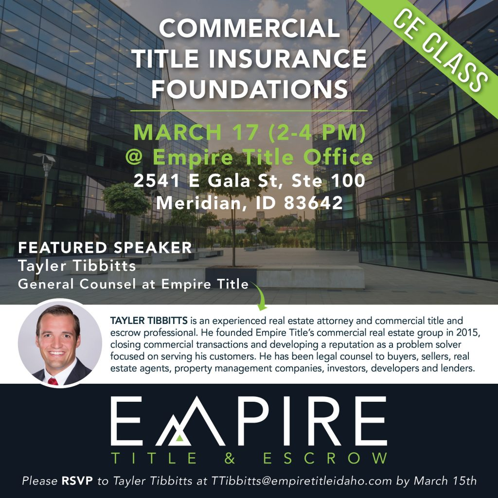 Commercial Title Insurance Foundations